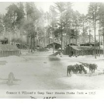 Image of Connor & Wilson's Logging Camp  - Connor & Wilson's Logging Camp near Itasca State Park, 1915. Jerome M. Skeim 11x14""