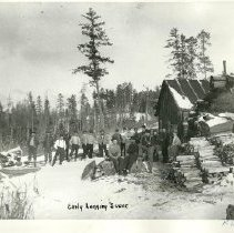 Image of Logging camp - Logging camp, 1913.