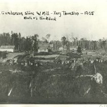 Image of George Gunderson Store and Mill - George Gunderson Store and Mill, Inez township, north of Blackduck, 1905