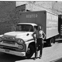 Image of Reuter Furniture, Bemidji 1960 - Reuter Furniture Mart, 104-108 Third St., Bemidji. Virgil Reuter, owner. June 1960