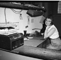 Image of Receptionist, Bemidji 1960 - Receptionist, Bemidji Business, June 1960