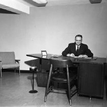 Image of Unknown Man, Bemidji, 1960 - Banking officer perhaps, Security State Bank?, June 1960