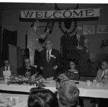 Image of Doctor Lawyer Banquet May 5 1958 Bemidji - Doctor Lawyer Banquet May 5 1958 Bemidji; Photo arranged by Hilligan