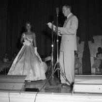 Image of Bemidji Jaycees Carnival 1959 - Mary McKee, representing Wilson's Clothing, Bemidji Jaycees Carnival 1959
