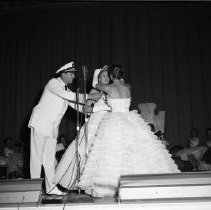 Image of Bemidji Jaycees Carnival 1959 - Bemidji Jaycees Carnival July 1959 - Crowning Rochelle Hazen, of Solar Gas, as the new Queen for 1959.