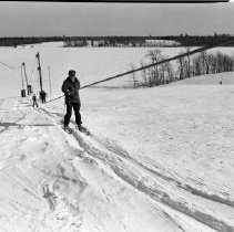 Image of Buena Vista Skiways 1957 - Buena Vista Skiways, north of Bemidji. The Back Hill. When it was Larson's Ridge and Yodeler's Meadow. Set of photos taken Feb 10, 1957 and March 3, 1957