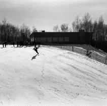 Image of Buena Vista Skiways 1957 - Buena Vista Skiways, north of Bemidji. Set of photos taken Feb 10, 1957 and March 3, 1957