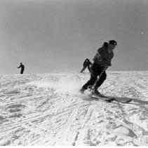 Image of Buena Vista Skiways, north of Bemidji. Set of photos taken Feb 10, 1957 and March 3, 1957 - Buena Vista Skiways, north of Bemidji. Set of photos taken Feb 10, 1957 and March 3, 1957