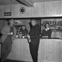 "Image of Buena Vista Skiways, north of Bemidji. Set of photos taken Feb 10, 1957 and March 3, 1957 - Mariann Setteburg Dickinson, wife of Earl Dickinson. and Henrietta ""Henri"" Maher behind counter at Lodge. Buena Vista Skiways, north of Bemidji. Set of photos taken Feb 10, 1957 and March 3, 1957"