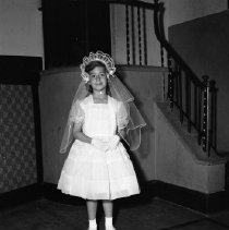 Image of First Communion, St. Philip's Church, Bemidji, 1959 - Michelle Ulrich, First Communion, St. Philip's Church, Bemidji, May 10, 1959