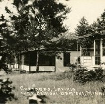 """Image of Lavinia Cottages Postcard - Postcard of Lavinia Cottages on Lake Bemidji. Front reads: """"Cottages, Lavinia, Lake Bemidji, Bemidji, Minn. Front also has a """"2414"""" on it.  Blank on the back. Undated."""