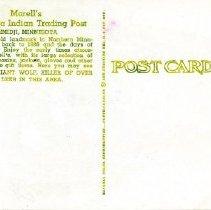 Image of Morrell's Chippewa Trading Post Postcard (Back)