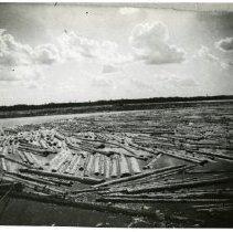 Image of Logging Boom on Lake Bemidji - Logging boom on Lake Bemidji, 1920 (mouth basin).