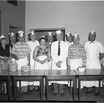 Image of American Legion, Cooking Crew - American Legion, Cooking Crew, May 23, 1956 Joe Meland, far right.
