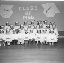 Image of Lincoln School, Class of 1956, Kindergarten Graduating Class 1956 - Lincoln School, Blemidji Class of 1956, Kindergarten Graduating Class, May 23, 1956