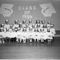 Image of Lincoln School, Bemidji Kindergarten Graduating Class 1956 - Lincoln School, Bemidji Kindergarten Graduating Class May 23, 1956
