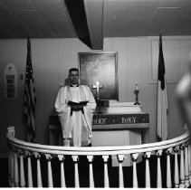 Image of Bethel Luthern Minister, 1957 - Bethel Lutheran Confirmation, Minister, May 25, 1957