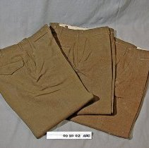 Image of 00.10.02 a,b,c - Korean War Uniform Pants.  Three identical pairs of pants.