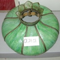Image of 01.24.01 - Green chandelier, lamp shade