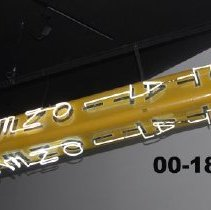 "Image of 00.18.01 - Large yellow ""pencil"" sign from Service Stationers of Harrisonburg, VA"