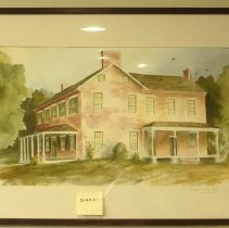 Image of 01.23.01 - Watercolor by Kelli Hertzler as Belle Grove as it once stood