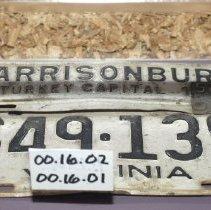 Image of 00.16.01 - 1955 Metal Harrisonburg City Tag (license plate)