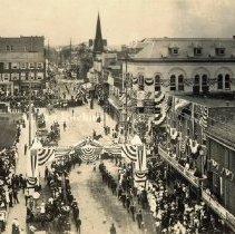 Image of Photo0022.jpg - Firemen's parade in Harrisonburg, 1904-1905