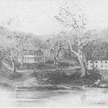 Image of Photo0025.jpg - Painting of Stonewall Jackson's boyhood home