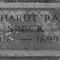 Image of Photo0077.jpg - Grave marker of Barnhardt Rader Speck (1816-1899)
