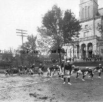 Image of Photo0093.jpg - Hose Company #4 Reel team on the south side of Court Square, Harrisonburg, Va