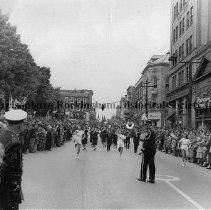 Image of Photo0097.jpg - Marching band in parade on Main Street, Harrisonburg