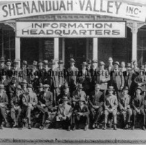 Image of Photo0123.jpg - Members of the Shenandoah Valley Inc. Information Headquarters in front of the business