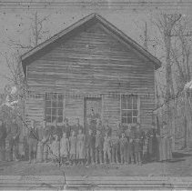 Image of Photo0138.jpg - School class in front of the Mechanicsville Public school house