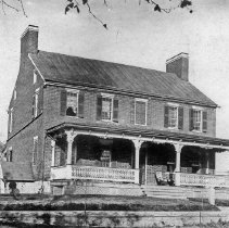 Image of Photo0144.jpg - Daniel Zigler house with white porch and double chimney
