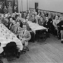 Image of Photo0150.jpg - Harrisonburg Kiwanis Club members in the palm room of the Kavanaugh Hotel