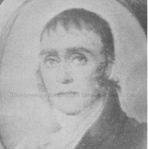 Image of Photo0158.jpg - Photograph of a portrait of Dr. Jessee Bennett in an oval frame