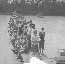 Image of Photo0187.jpg - Boys on a dock over Shenandoah River for Camp Shenandoah