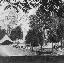 Image of Photo0188.jpg - Tents on the bank of the Shenandoah River for Camp Shenandoah