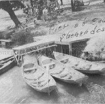 Image of Photo0190.jpg - Boats docked to pier at Camp Shenandoah