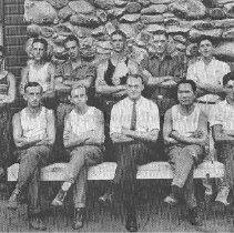 Image of Photo0191.jpg - Two rows of men at Camp Shenandoah
