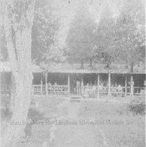 Image of Photo0192.jpg - Walk way leading up to a bunk house at Camp Shenandoah