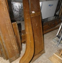 Image of 01.23.04 - Belle Grove Paneling which lined the stairs from the first floor to the second floor landing