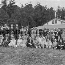Image of Photo0059ov.jpg - Rockingham County Bankers Association at Massanutten Caverns, including John T. Harris, Jr., J. O. Stickley, and William Henry Sipe>
