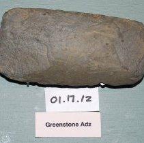 Image of 01.17.12 - Greenstone adze