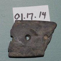 Image of 01.17.14 - Slate gorget fragment