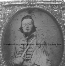 Image of Photo3250.jpg - John Bailey, (1834-1893) a sergeant in Company C, 6th Virginia Cavalry.  The company was known as the Mt. Crawford Cavalry and was raised around that town on the Valley Pike in Rockingham County.   He was Captured at Rich Mt. WV on July 11, 1861; paroled