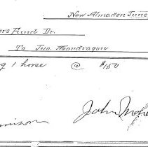 Image of receipt for horse shoeing, 1904