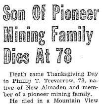 Image of Phillip T. Trevarrow obituary