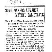 Image of Some makers advance Methyl Salicylate, 1921