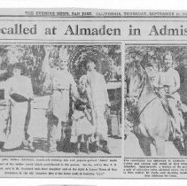 Image of Days of old recalled at Almaden in admission day parade, 1931